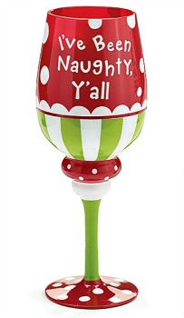 I\'ve Been Naughty Y\'all Christmas Wine Glass