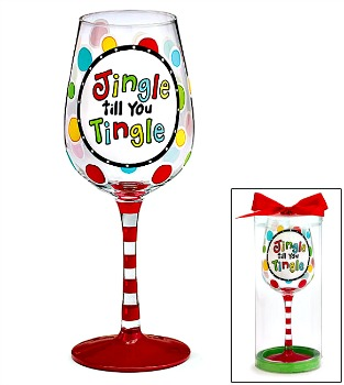 Jingle till You Tingle Wine Glass **SOLD OUT**