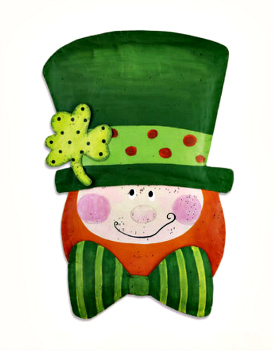 Jolly Leprechaun Door Hanger