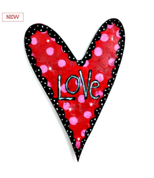 LIT Love Heart Door Hanger **NEW - NOW AVAILABLE**