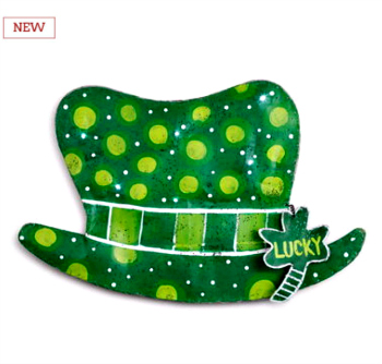 LIT St. Paddy's Day Hat Door Hanger **NEW**