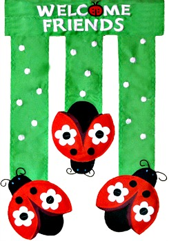 Ladybug Friends Mini Garden Flag