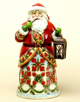 Let Tradition Light the Way Williamsburg Santa by Jim Shore Heartwood Creek
