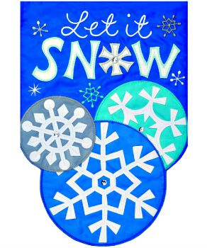 Let it Snow Applique Mini Garden Flag **NEW**