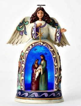 Lighted Nativity Angel by Jim Shore Heartwood Creek **NEW**SOLD OUT!