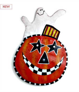 LIT Jack O'Lantern Door Hanger **NEW - NOW AVAILABLE**