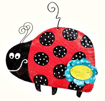 Little Lady Ladybug Door Hanger