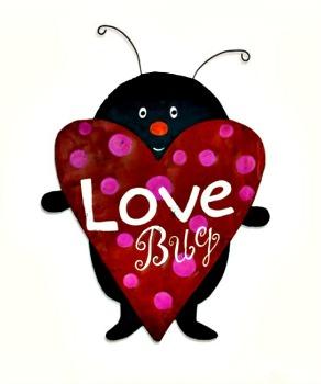 Love Bug Door Hanger **BEING DISCONTINUED- ONLY 2 LEFT**