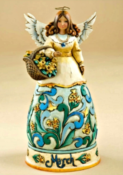 March Birthday Angel by Jim Shore Heartwood Creek*SOLD OUT*