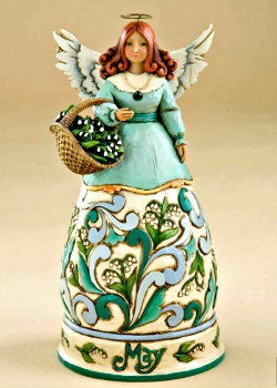May Birthday Month Angel by Jim Shore Heartwood Creek