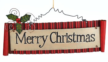 Merry Christmas Tin Wall Hanging