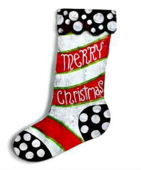 Merry Christmas Stocking Door Hanger **NEW - NOW AVAILABLE**