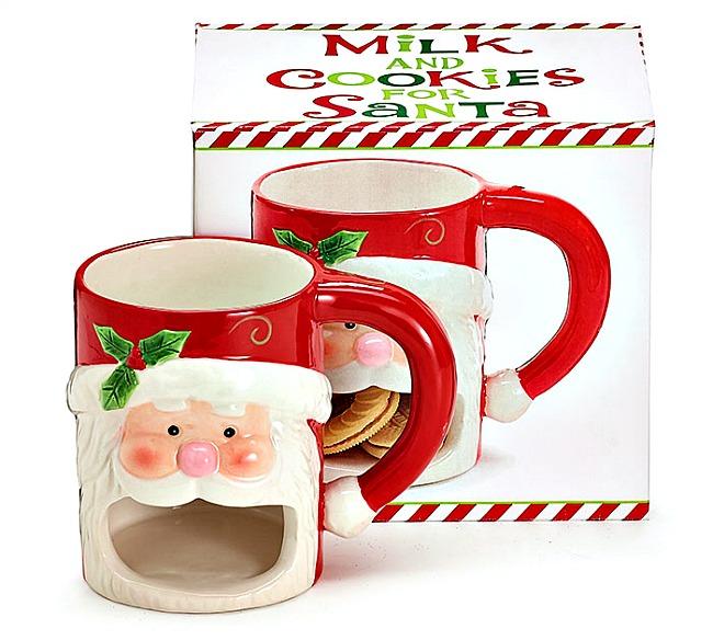 Milk And Cookies For Santa Mug By Burton Burton