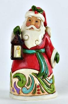 Miniature Santa with Lantern Figurine