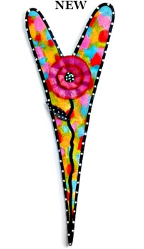 Multi Color Heart with Flower Door Hanger **NEW - NOW AVAILABLE**