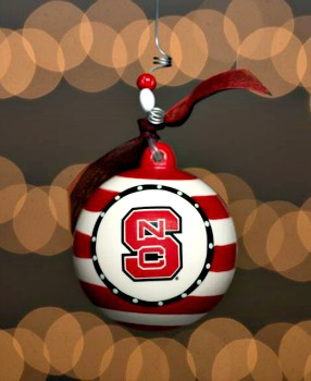NCSU Stripe Ceramic Ornament