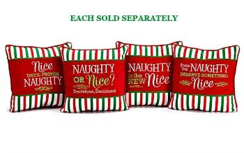Naughty/Nice Christmas Pillows **NEW ITEM**