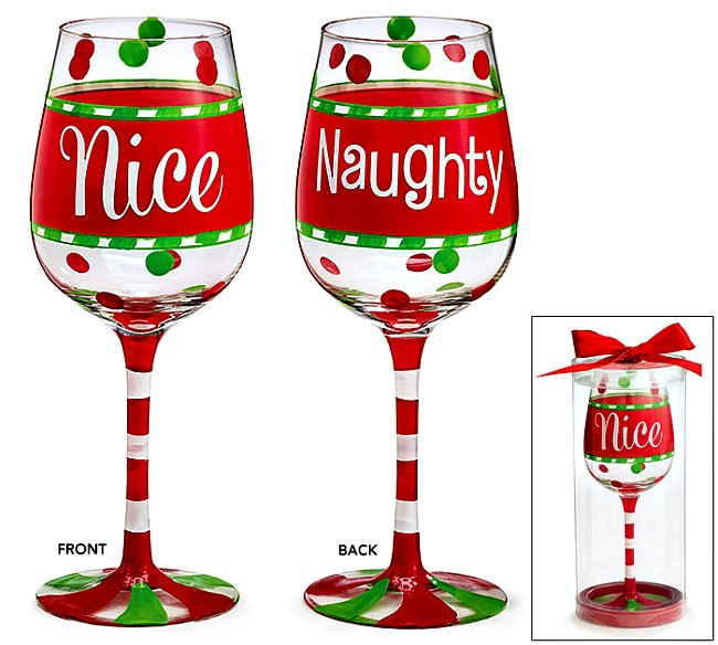 9722496 naughtynice christmas wine glass products naughtynice christmas wine glass