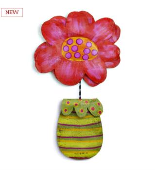 NEW Pink Flower in Pot Door Hanger - SOLD OUT**