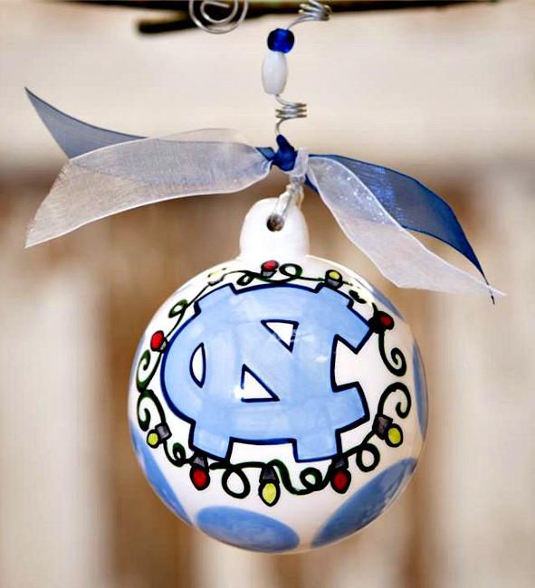 UNC Ball Christmas Ornament