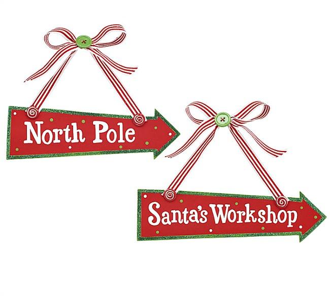 North Pole Santas Workshop Sign Wood north pole and santa's workshop ...