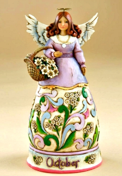 October Birthday Month Angel by Jim Shore Heartwood Creek