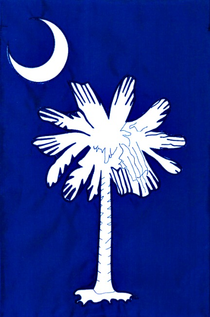 Palmetto moon applique mini garden flag by custom decor inc for Custom decor inc