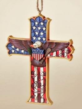 Patriotic Cross Hanging Ornament
