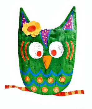 Perky Owl Door Hanger