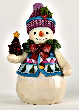Pinecones and Holly Pint Sized Snowman Figurine **SOLD OUT**