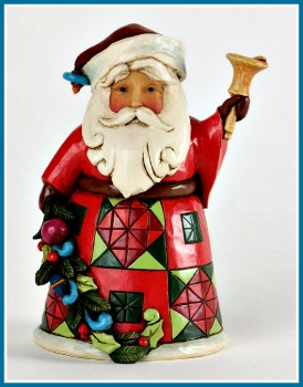 Glad Tidings Pint Sized Santa with Bell Figurine **SOLD OUT**