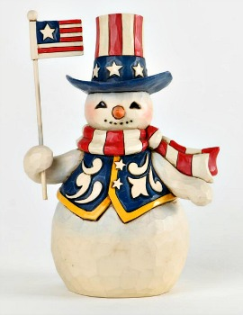 Stars and Stripes in All Seasons Pint Sized Patriotic Snowman **SOLD OUT**