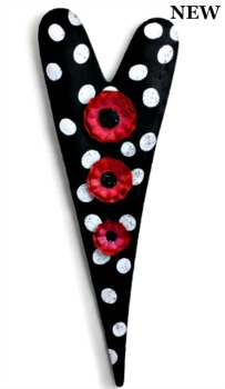 Polka Dot Heart with Flowers Door Hanger **NEW - NOW AVAILABLE**