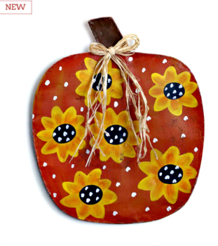 Pumpkin with Sunflowers Door Hanger **NEW** SOLD OUT!