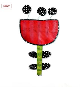 Red and Black Tulip Door Hanger *NEW*