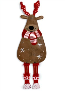 Reindeer with Scarf Door Hanger **NEW - NOW AVAILABLE**