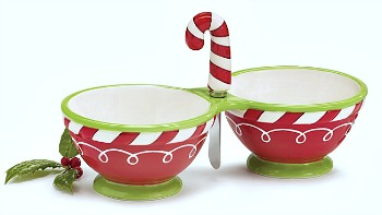 Christmas Dip/Relish Server w/Spreader