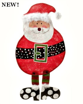 Round Santa Door Hanger **NEW**