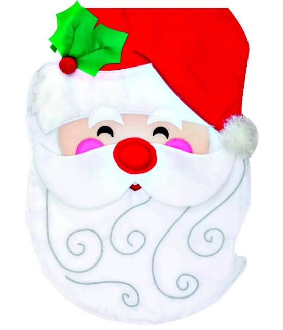 Santa applique mini garden flag by custom decor inc for Custom decor inc