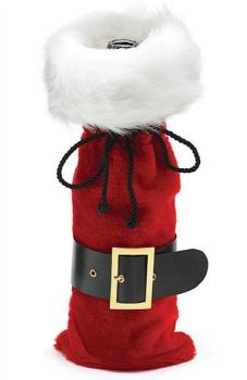 Santa Belt Wine Bottle Bag