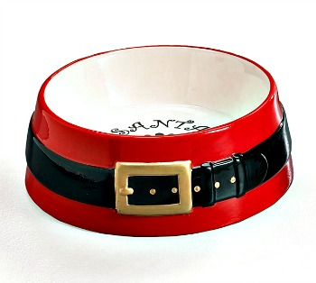 Small Santa Belt Pet Dish **SOLD OUT**