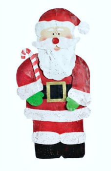 Santa with Candy Cane Door Hanger