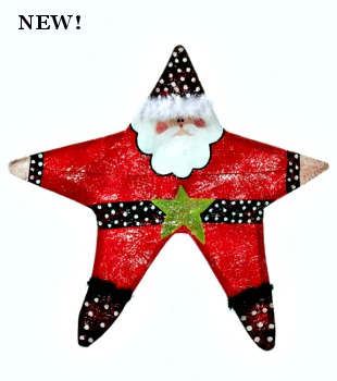 Santa Star Door Hanger  **NEW**