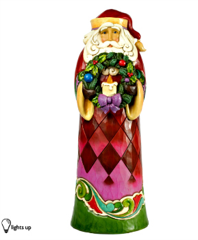 Santa with Wreath 2 foot Statue by Jim Shore Heartwood Creek **BY REQUEST ONLY**