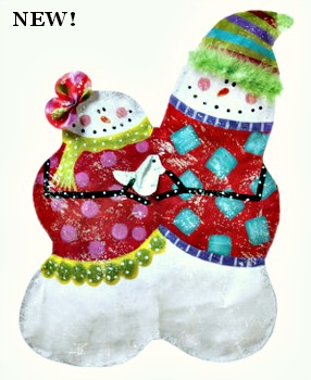 Snow Couple Door Hanger **NEW**