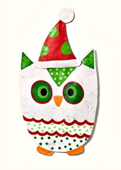 Snow Owl Door Hanger