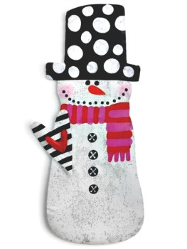 Snowman with Heart Door Hanger **SOLD OUT**