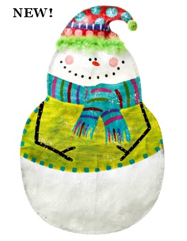 Snowman with Hat Door Hanger