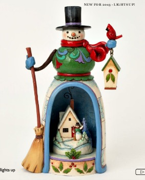 Snowman with Lighted Winter Scene by Jim Shore Heartwood Creek**SOLD OUT**