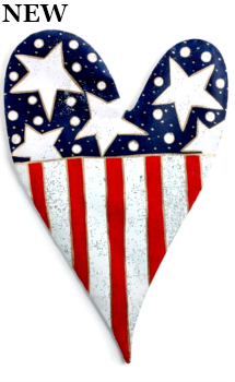 Stars and Stripes Heart Door Hanger **NEW - NOW AVAILABLE**